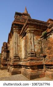 Red Sandstone stupas and temples,  Bagan Myanmar (Burma)