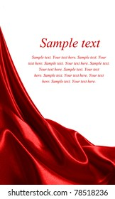 red satin fabric with beautiful patterns of folds