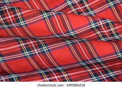 Red Tartan School Uniform Fabric Material Stock Photo Edit Now
