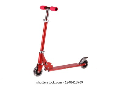 red scooter isolated on white