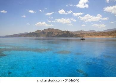Red Sea, Aqaba gulf, Egypt. Lagoon of Dahab.