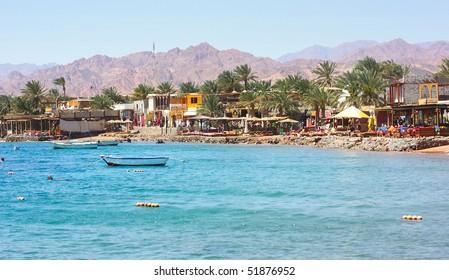 Red sea coastline near town Dahab