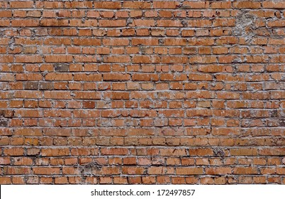 Red seamless bricks. Wall texture