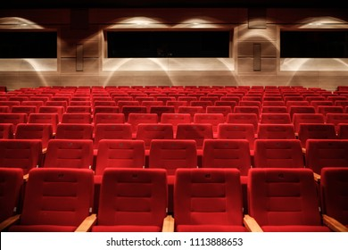 Red seats in a empty theater