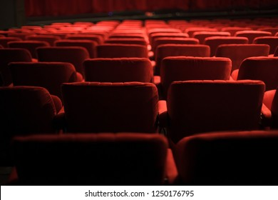 red seats at the theater