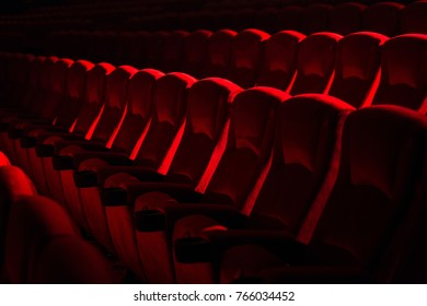 Red seats in the theater