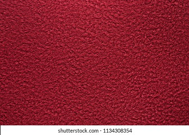 Red shallow texture of a towel