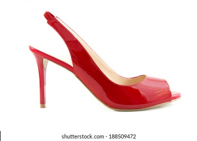 Red shoes isolated on a white background