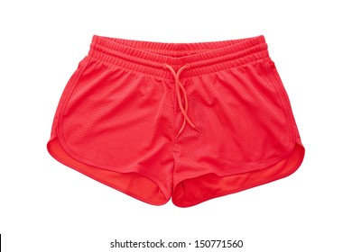 Red Shorts isolated on white background