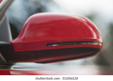 Red Side Mirror