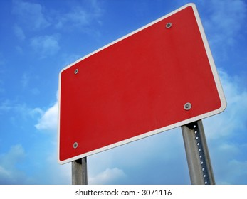 Red Sign Blank