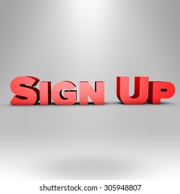 Red Sign Up for sale