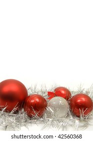 Red and silver christmas decoration