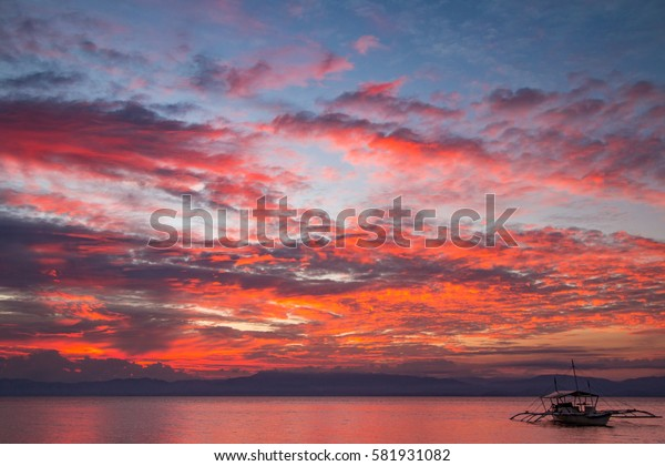Red skies over Moal Boal - Philippines