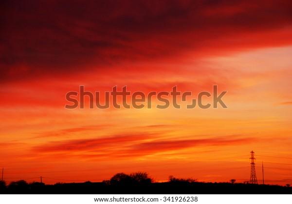 Roter Himmel in der Nacht