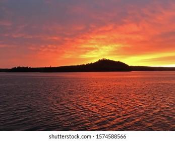 Red Sky over Oak Bay Sunset