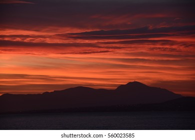 red sky sunset cloud silhouette composition photography