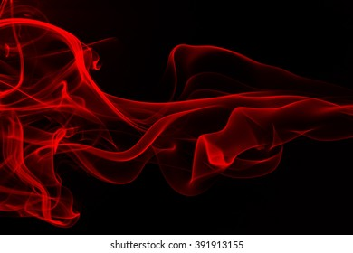 red smoke abstract isolated on black background, fire design