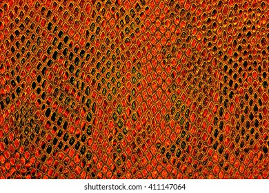Red snake skin background
