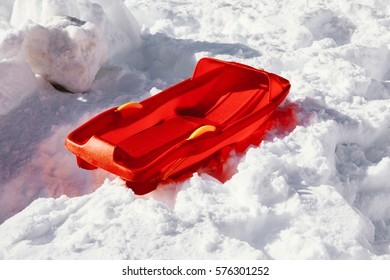 Red Snow sled