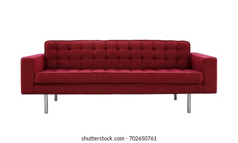 Red Sofa isolated with different angles in white background