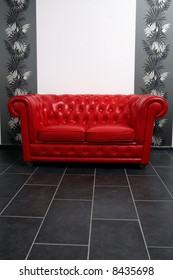 Red sofa, Japanese style room