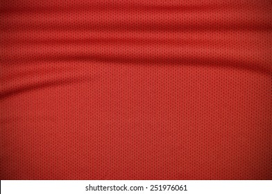 Red sport jersey shirt clothing texture and background