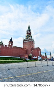 Red square in Moscow on the eve of the celebration of the 1025th anniversary of the baptism of Rus.