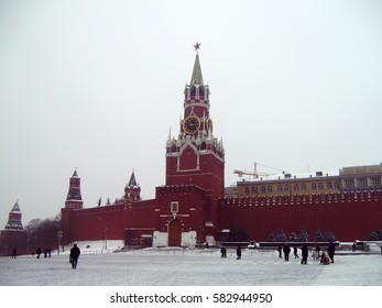The Red Square in winter