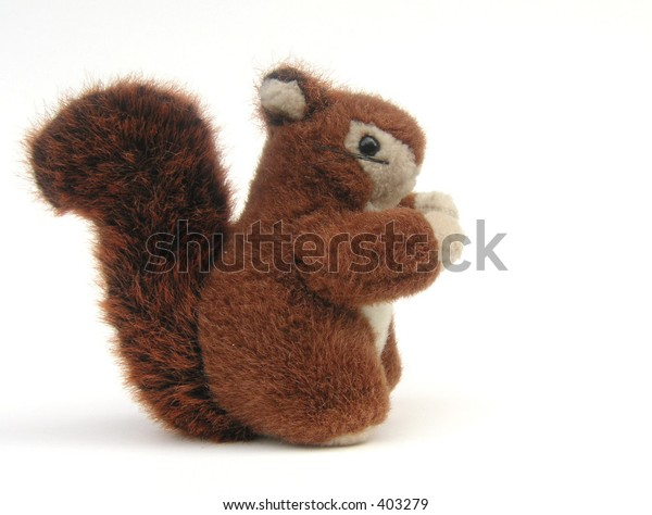 red squirrel toy