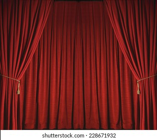 Red Stage Curtains from Theatre
