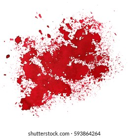 Red stain. Grunge abstract background. Space for your own text. Raster illustration