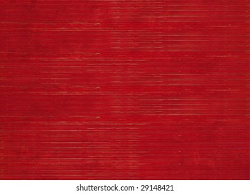 red stained ribbed natural background