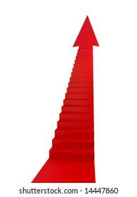 Red Stairs of Success