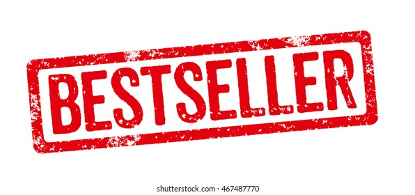 Red stamp on a white background - Bestseller