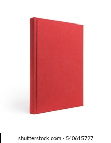 Red standing book isolated