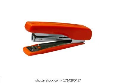Red stapler, use a stapler