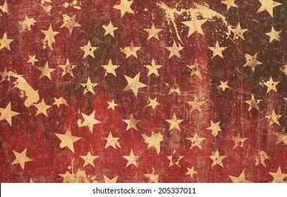 Red star grunge background texture