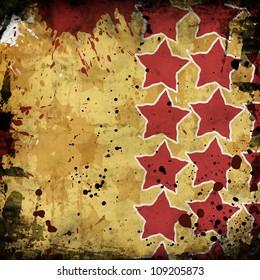 red stars on grunge background