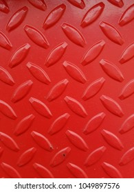 red steel diamond plate