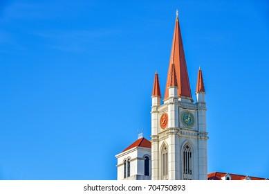 Red steeple in Assumption University, Thailand