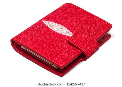 Red stingray skin wallet