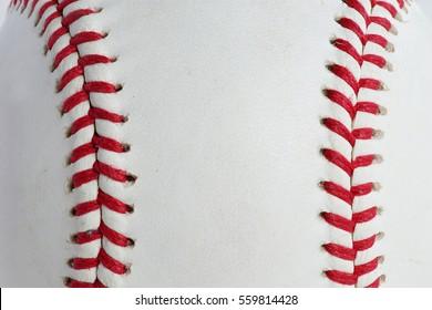 Red stitching baseball background