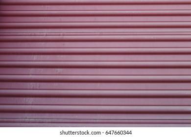 Red storage door