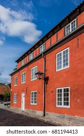Red Storehouses at Kastellet. Copenhagen Citadel (Kastellet) dates from 1624, was founded by King Christian IV. Denmark. Kastellet is one of best preserved star fortresses in Northern Europe.