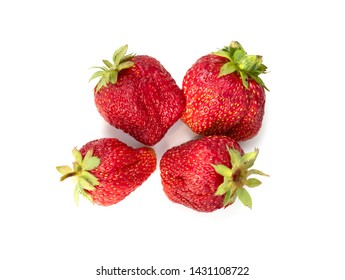 Red strawberry berry garden isolated on white background.