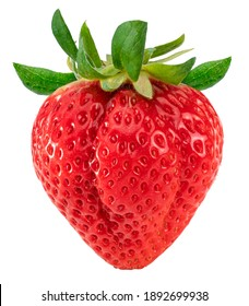 Red Strawberry isolated on white background, Fresh Amaoh Strawberry isolated on white (With clipping path)