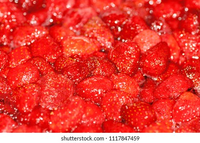red strawberry jam background texture