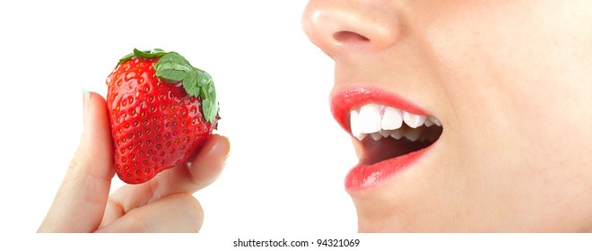 Red strawberry and sexy girl