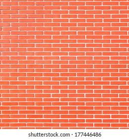 Red striped bricks. Background texture.